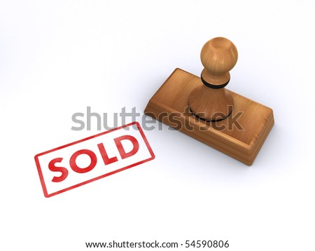"""stamp """"sold"""""""
