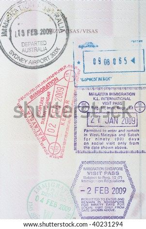 Singapore Passport Picture on From Singapore  Australia  Malaysia Immigration In A Polish Passport