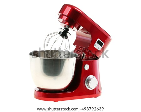 Stand Food Mixer Isolated on White - Shutterstock ID 493792639