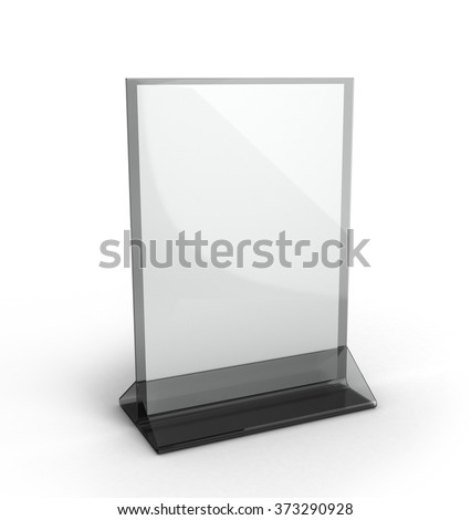 Stand for booklets with white sheets of paper on a white background #373290928
