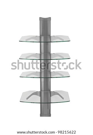 Stand for CD isolated on white background