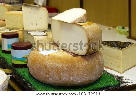 stand of cheese in France