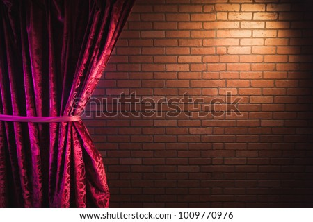 stand up comedy background  red ...