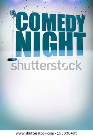 Stand up show abstract invitation poster background with space