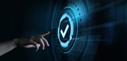 Standard Quality Control Certification Assurance Guarantee Concept