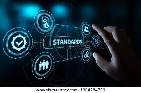 Standard Quality Control Certification Assurance Guarantee Internet Business Technology Concept. Stock photo ©