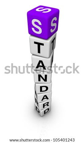 standard symbol - stock photo