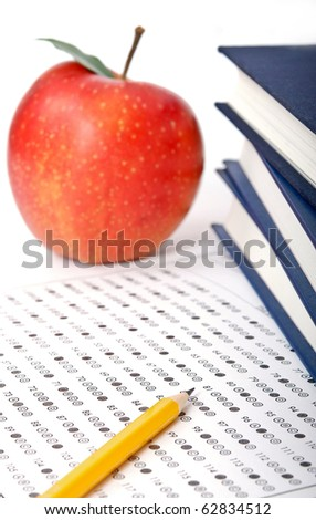 Standardized quiz or test score sheet