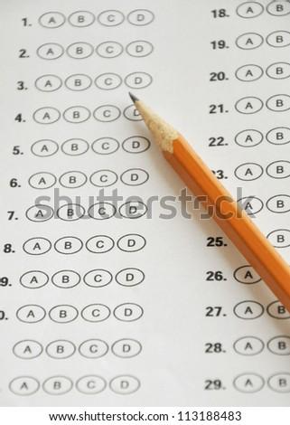 standardized test bubble sheet