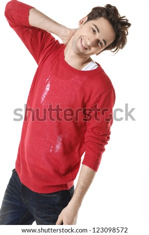 standing confident young man isolated