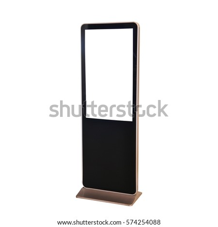 Standing LED advertising board on white background. #574254088