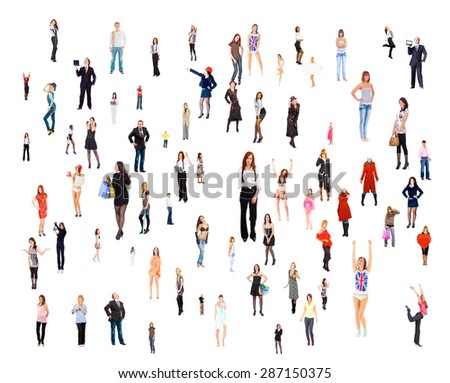 Standing Together Corporate Teamwork  - Shutterstock ID 287150375