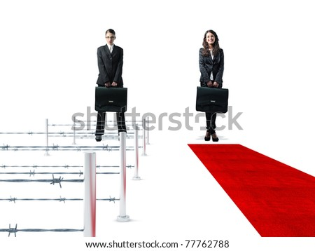 standing women with bag and 3d easy and hard way