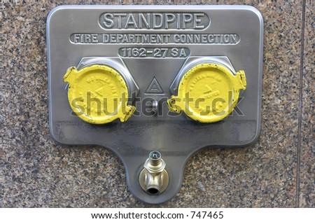 Standpipe connection, manhattan, new york, America, usa - stock photo