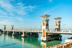 Stanley bridge landmark in Alexandria Egypt