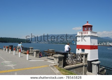 Stanley Park Lighthouse in Vancouver, Canada