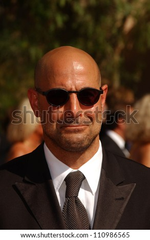 Stanley Tucci  arriving at the 59th Annual Primetime Emmy Awards. The Shrine Auditorium, Los Angeles, CA. 09-16-07 - stock photo