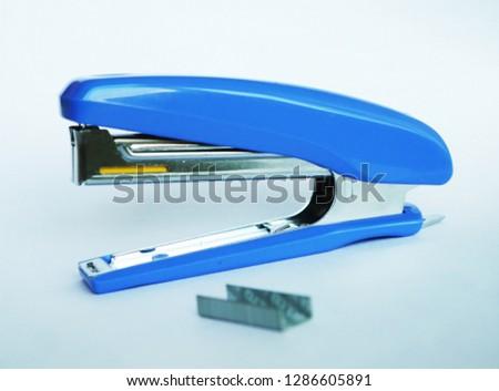 Staple and Blue stapler