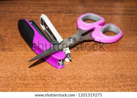 stapler and scissors in the workplace