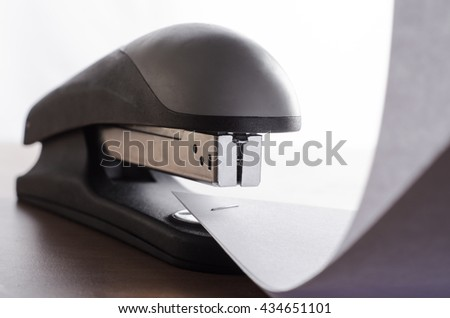 Stapler and sealed with a paper staple