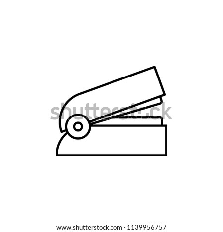 stapler. Element of education icon for mobile concept and web apps. Thin line stapler can be used for web and mobile on white background
