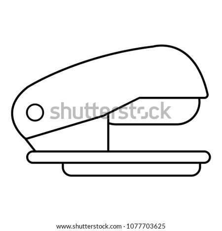 Stapler icon. Outline illustration of stapler icon for web
