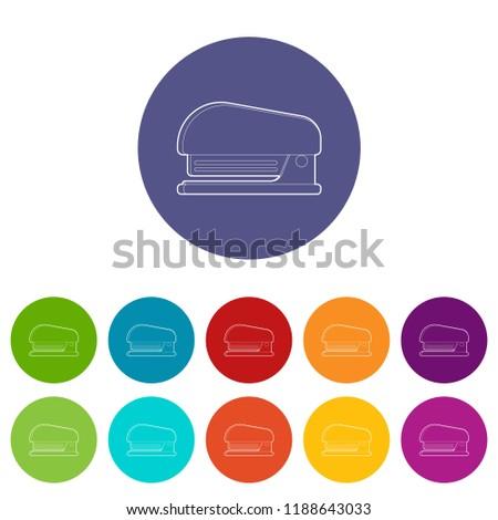 Stapler icon. Outline illustration of stapler icon for web design
