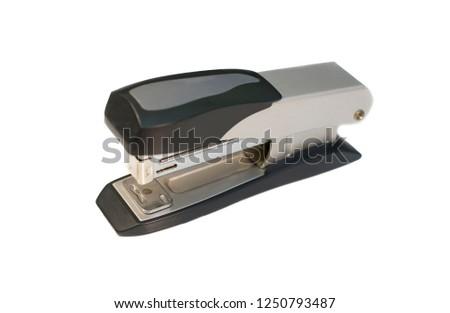 stapler isolated on a white background. Stapler for staple of paper