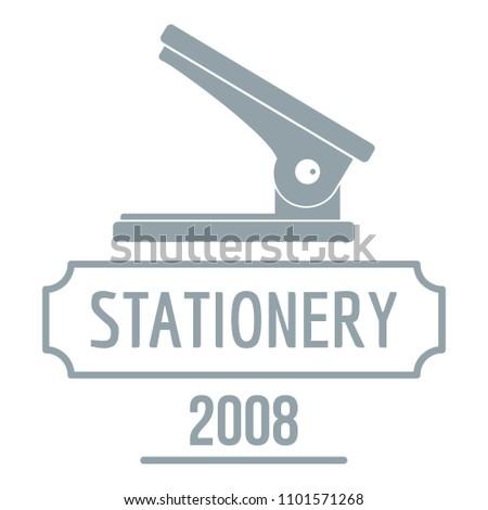 Stapler logo. Simple illustration of stapler logo for web