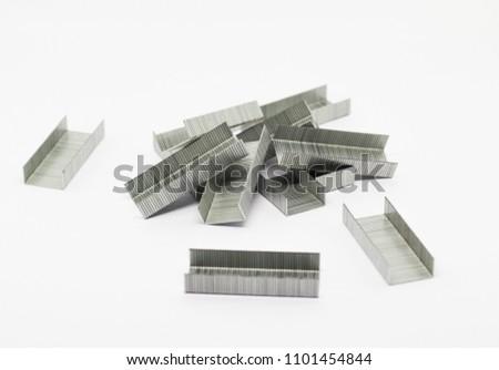 Stapler on white background, Stationary stapler