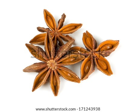 star anise isolated on white #171243938