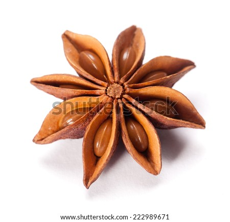 Star Anise isolated on white background #222989671