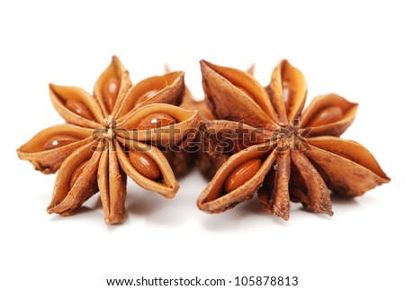 star anise on white background #105878813
