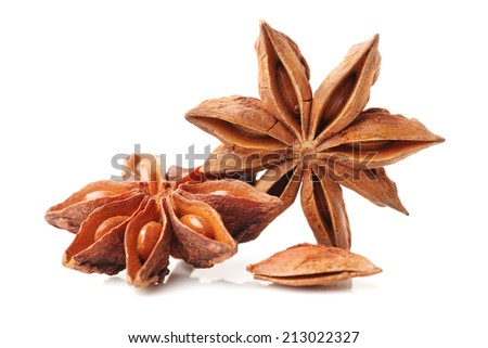 star anise on white background #213022327