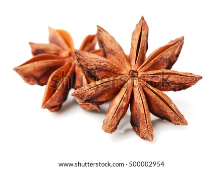 star anise on white background #500002954