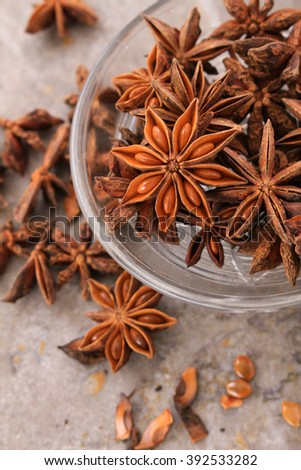 Star Anise And Cinnamon Spices On A Stock Photo 575036305