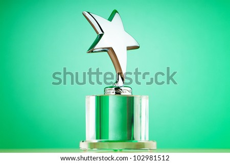 Star award against gradient background