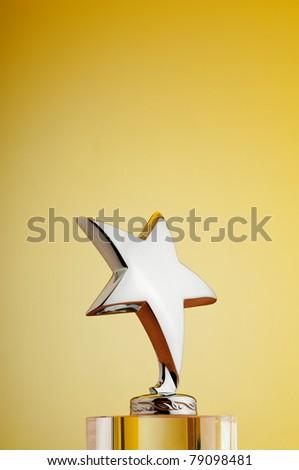 Star award against gradient background - stock photo