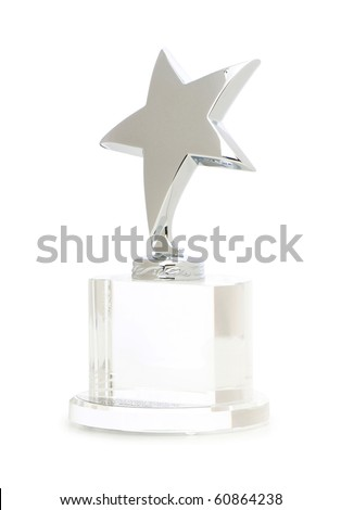 Star award isolated on the white background