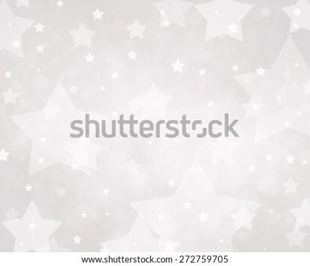 Star background. Luxury white background. Glittering silver white stars.