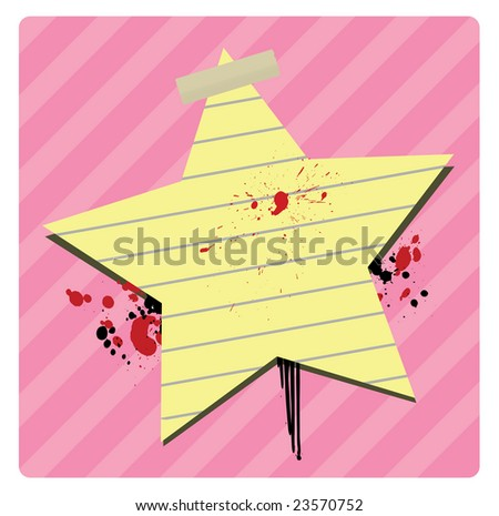 Star Banner Available in following backgrounds: brown(vector+JPG),  pink(vector+jpg) and white(jpg only) - stock photo