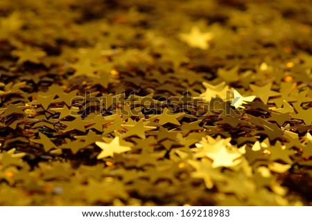 star confetti / gold/ party/celebration