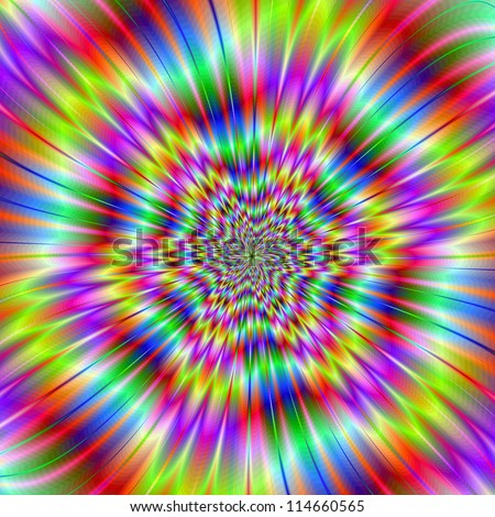 Star Explosion/Digital abstract image with a colorful explosion star design in green, blue, pink, yellow, and red.