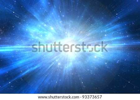 Star explosion in a galaxy of an unknown universe