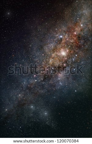 Star-field in deep outer space