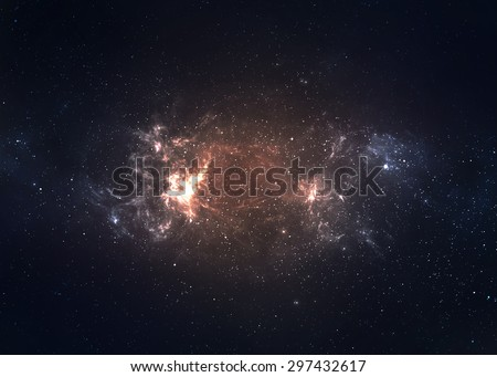 Star field in  deep space many light years far from the Earth. Elements of this image furnished by NASA #297432617
