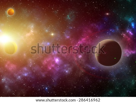 Star field in space design for stay space galaxy background