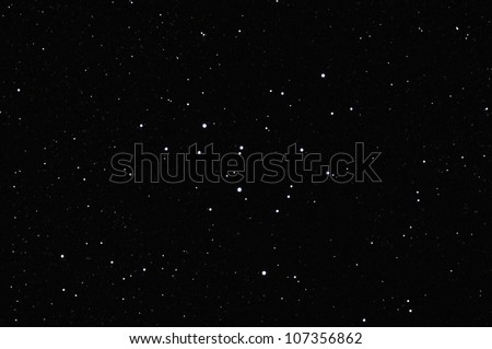Star field with Messier M39 (or NGC7092), an open cluster in the constellation of Cygnus.