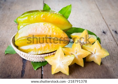 Star fruit on wood background ,starfruit on wood background Сток-фото ©