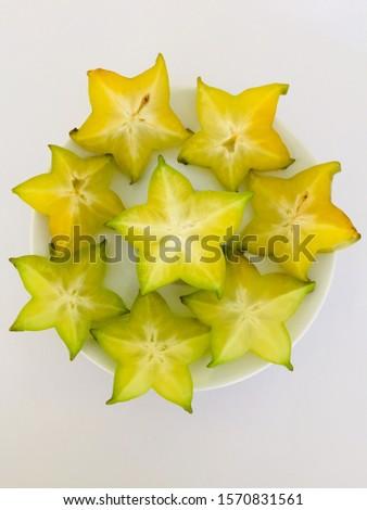 Star fruit,  sweet and sour taste